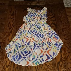 Tie-dye Aztec Print Summer Dress